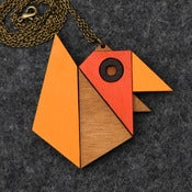 Image of Geometric Bird - Origami Necklace