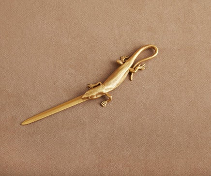 Image of Gold Metal Lizard Letter Opener BC-202