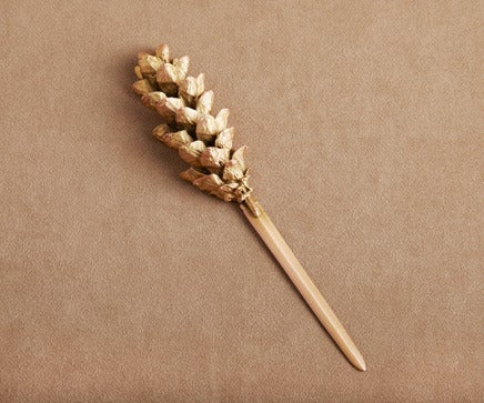 Image of Gold Metal Pine Cone Letter Opener BC-201