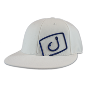 Image of Flatline Fitted Hat - White