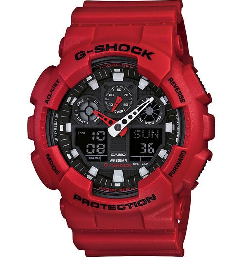 Image of CASIO GSHOCK GA100B-4 RED
