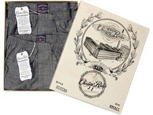 Image of Charcoal Chambray Boxers (2 Pack)