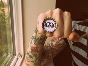 Image of XXX Straight Edge Ring