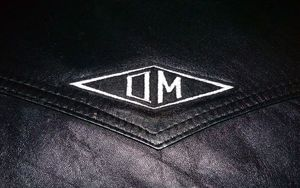 Image of OMARINA 'OM' Logo Diamond Biker Patch