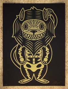 Image of LION OF THE DEAD GOLD AND BLACK