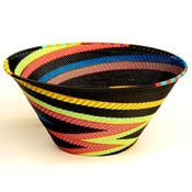 Image of Large Funnel Wire Basket in Black Rainbow