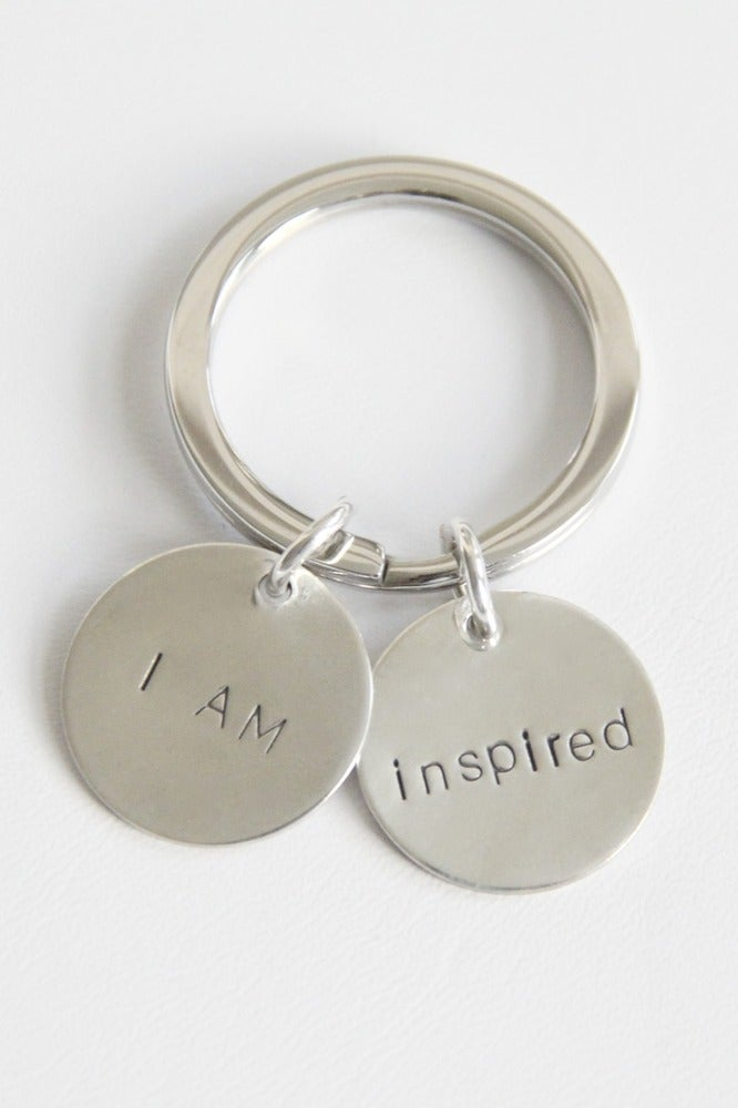 of I AM INSPIRED KEY CHAIN  I Am Inspired