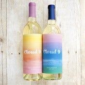 Image of Watercolor Ombre Wine Labels