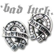 Image of Bad Luck Horseshoe Tattoo Earrings