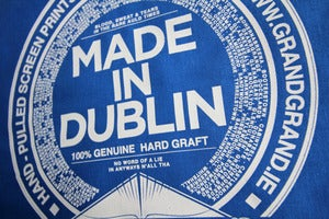 Image of MADE IN DUBLIN cotton tote bag