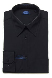 Image of AN705 ANGO PLAIN BLACK SHIRT