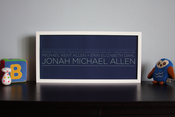 Image of 4 Generation Lineage Family Tree | 19&quot;x9&quot; with sans serif typeface