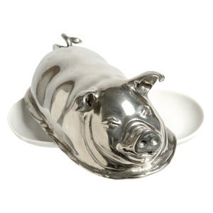 Image of Pig Butter Dish