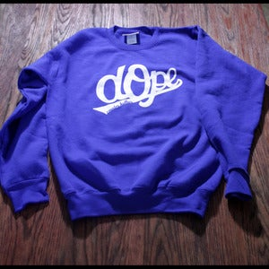 Image of Dope- Blue Crewneck