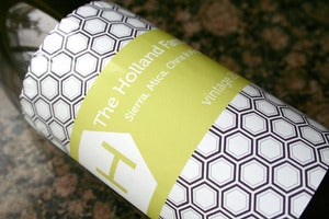 Image of Honeycomb Wine Labels - Printable PDF