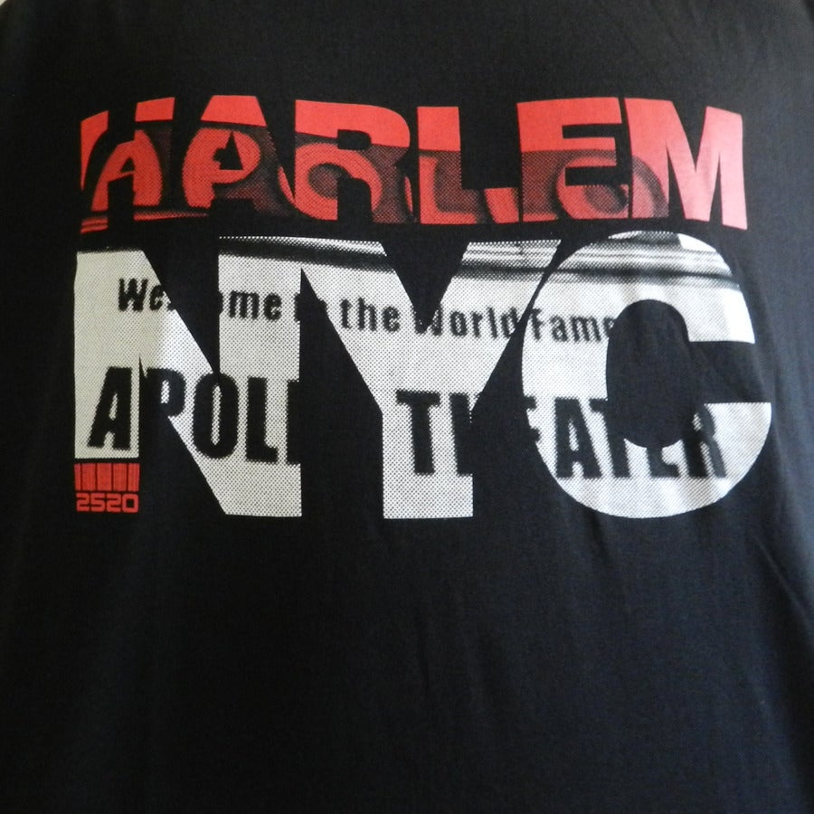 Image of 2520 Mens Harlem NYC T-Shirt (Black)