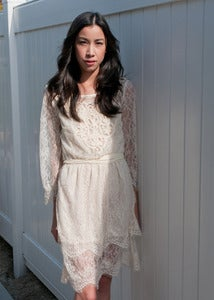 Image of Tiered Lace Dress