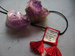 Image of Embroidered Tassel Scapular Pendant, Diamond Pattern