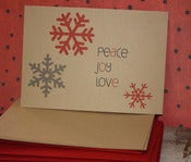 Image of Peace, Joy, Love note cards