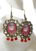 Image of Pendientes camafeo fashion