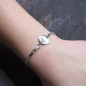 Image of Fingerprint Bracelet in Fine Silver (Style#503)