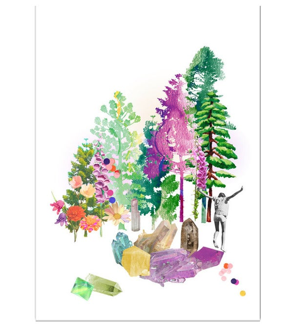 Image of Prism Forest Art Print A4 A3