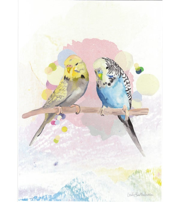 Image of Budgies Art Print