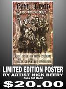 Image of Limited Edition Bang Tango Poster (500 prints) by Artist &quot;Nick Beery&quot; aka The Beery Method