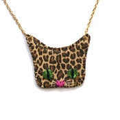 Image of As Featured in OK! Leopard Print Pussycat Necklace