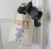 Image of Knitted Elephant in Personalised Tote Bag