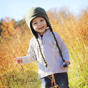 Image of Fleece Earflap Hat Pattern for Kids - Baby and Children Newborn to age 12