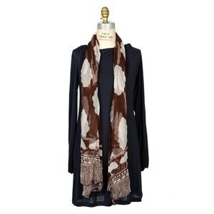 Image of Silk Cloud Scarf - Brown