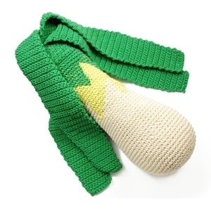 Image of Hand Crocheted Leek