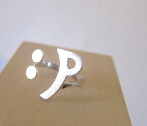 Image of Naughty Happy Face Ring :P - Handmade Silver Ring