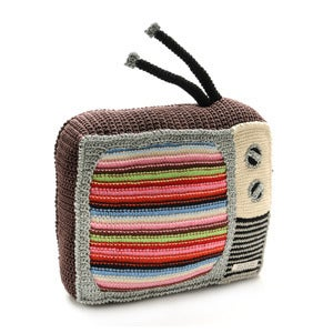 Image of Hand Crocheted Television