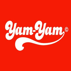 Image of Retro Yam Yam Design - Red, available as Tee Shirt and Poster