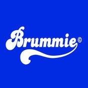 Image of Retro Brummie Design - Royal Blue, available as Tee Shirt and Poster