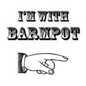 Image of I'm with Barmpot Design - available as Tee Shirt, Mug and Poster