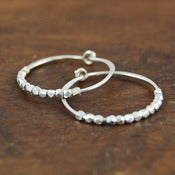 Image of snow white sterling silver hoop earring s/m/l