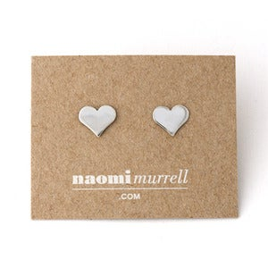 Image of Heart Studs | Silver