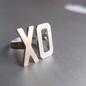 Image of XO Ring, Hugs & Kisses - Handmade Silver Ring