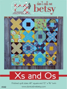 Image of Xs and Os quilt pattern