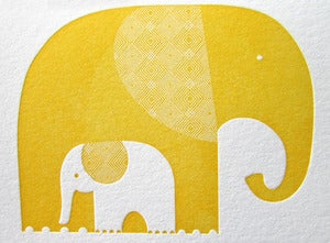 Image of Elephants Letterpress Notecards