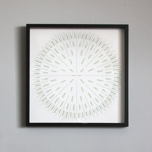 "Image of 6 Generation Sunburst Family Tree 19¾""x19¾"""