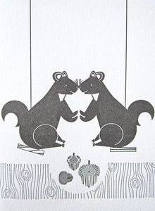 Image of Squirrels Letterpress Notecards