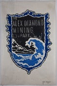 Image of Woodblock Print: Alex Diamond | The Alex Diamond Mining Company