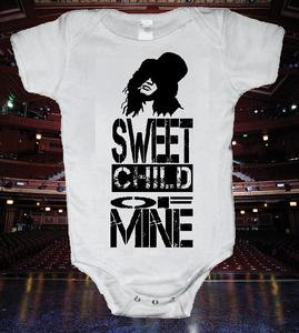 Image of GUNS N' ROSES SLASH SWEET CHILD OF MINE BABY ONESIE ONE PIECE BODYSUIT