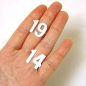 Image of Custom Number Ring- Handmade Silver Rings