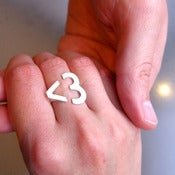 Image of I Heart You &lt;3 Heart Ring - Handmade Silver Ring