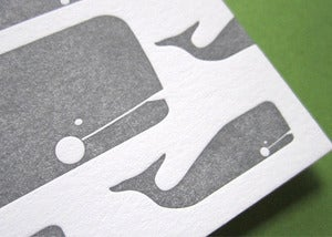 Image of I Whaley Appreciate You Letterpress Notecards
